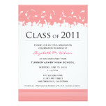 Cap & Gown 2011 Graduation Announcement (pink)