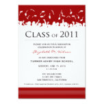 Cap & Gown 2011 Graduation Announcement (red)