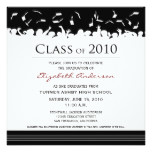 Cap & Gown Square Graduation Announcement (black)