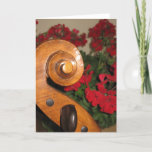 Cello Scroll Flowers greeting card
