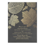 Chalkboard and Gold Leaves Fall Rehearsal Dinner Invitation