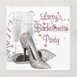 Champagne High Heels Bachelorette Party Invitation