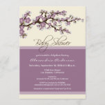 Cherry Blossom Baby Shower Invitation (lavender)