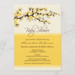 Cherry Blossom Baby Shower Invitation (yellow)