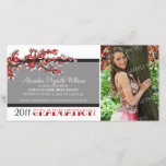 Cherry Blossom Graduation Announcement (black)