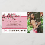 Cherry Blossom Graduation Announcement (pink)