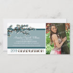 Cherry Blossom Graduation Announcement (teal)