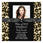 Chic Leopard Photo Graduation Announcement