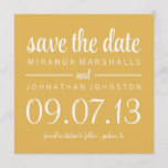 Classy Yellow Photo Save The Date Invites