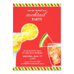 Cocktail Party Drinking Flat Invitation