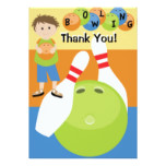 Custom Bowling Thank You Card