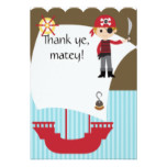 Custom Savvy Pirate Thank You Card