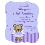 Custom Teddy Bear Blue Fairy Princess Card