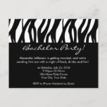 CustomInvites Zebra Bachelor Party Invitations