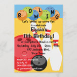 Customizable Bowling Birthday Party Invitation