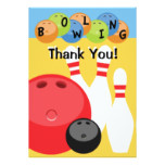 Customizable Bowling Thank You Card
