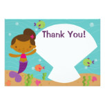 Customizable Kids Mermaid Party Thank You Card