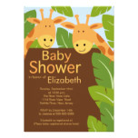 Cute Jungle Safari Giraffe Multiple Baby Shower Card