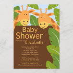 Cute Jungle Safari Giraffe Multiple Baby Shower Invitation