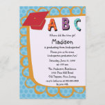 CUTE Pink Boys Kindergarten Graduation Invitation