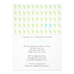 Cute Seahorse Twin Boys Multiple Baby Shower Card