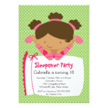 CUTE Sleepover Birthday Party Inviation Card