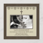 Darling Victorian Sepia Baptism Invitation