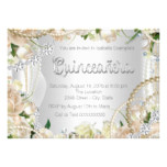 Diamond and Pearl Rose Quinceanera Card