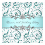Diamonds Silver Blue All Occasion Party Card
