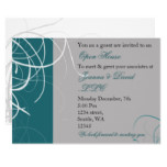 elegant aqua Corporate party Invitation