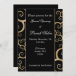 Elegant Black Gold Corporate party Invitation