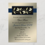 Elegant Ivory and Navy Corporate party Invitation