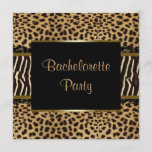 Elegant Leopard Zebra Bachelorette Party Invitation