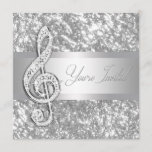 Elegant Music Treble Clef Recital Invitation