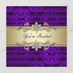 Elegant Purple and Gold Party Invitation