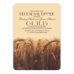 elegant rustic wheat rehearsal dinner invitations