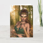 Elf in Woods Greeting Card