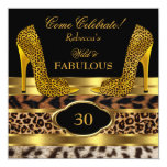 Fabulous 30 Wild Leopard Gold Cheetah High Heels 2 Invitation
