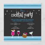 Fabulously Festive Cocktail Party (aqua) Invitation