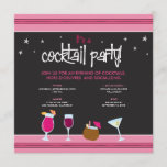 Fabulously Festive Cocktail Party (fuschia) Invitation
