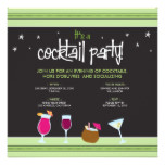 Fabulously Festive Cocktail Party (lime green) Card