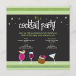 Fabulously Festive Cocktail Party (lime green) Invitation