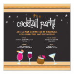 Fabulously Festive Cocktail Party (tangerine) Invitation