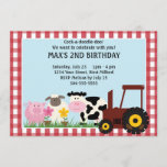 Farm Animals Kids Birthday Invitation