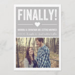Finally - Gray Photo Save The Date Announcements