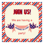 Fourth 4th Of July Party Invitations