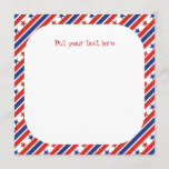 Fourth 4th of July red blue text Party Invitations