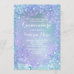 Frozen Winter Wonderland Quinceanera Invitation