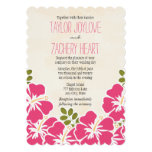 Fuchsia Hibiscus Hawaiian Wedding Invitations
