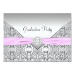 Girls Pink Graduation Party Invitation